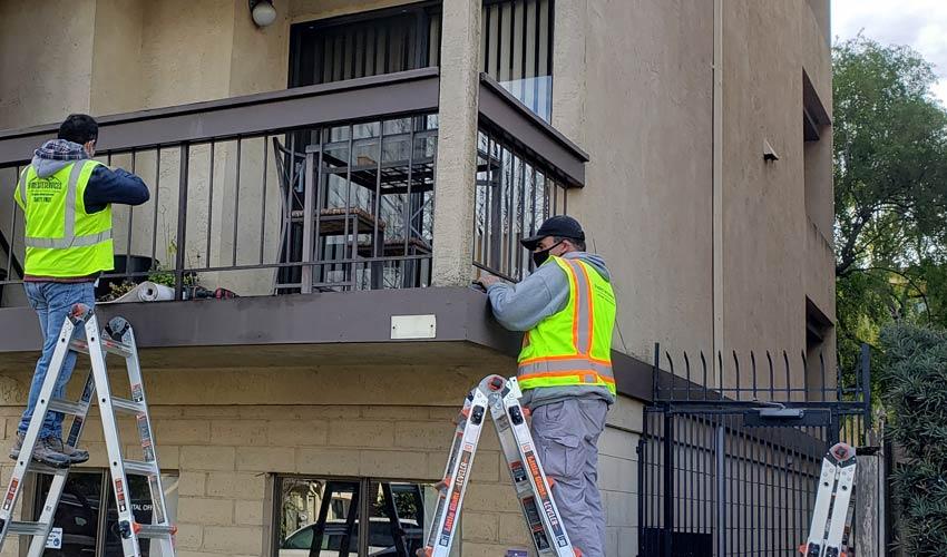 PIW inspectors performing SB326 compliant balcony inspections in CA
