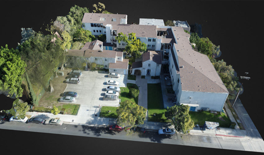 3D model of a residential community generated from drone data collection