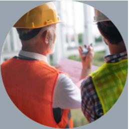 2 inspectors observing a jobsite, Atlantic & Pacific Build Group